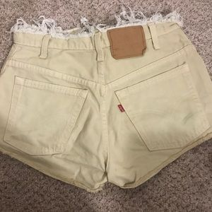 High waist levy's shorts